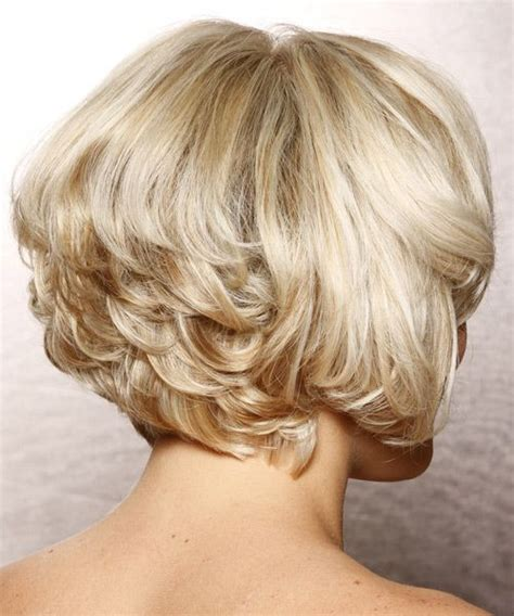 images of blonde layered haircuts from the back formal short wavy hairstyle side view cute hair