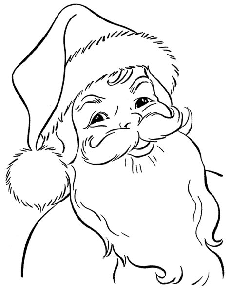 large santa coloring page santa claus face coloring pages coloring home