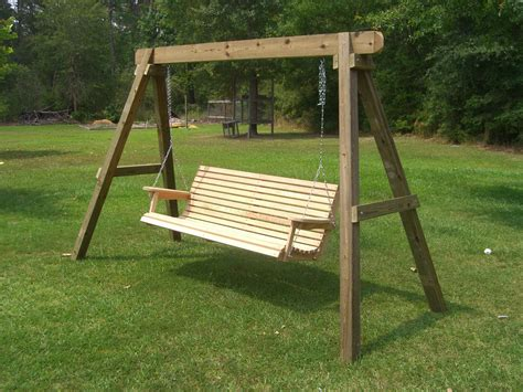 wooden a frame for swing how to build swing stand outdoor furniture pinterest