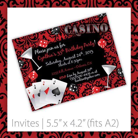 Casino Party Invitations Casino Blush By Blackcherryprintable Casino Invitation Template Free