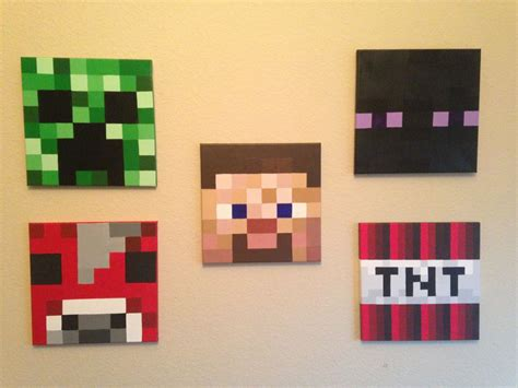 minecraft painting minecraft inspired acrylic paintings on 12x12 canvas