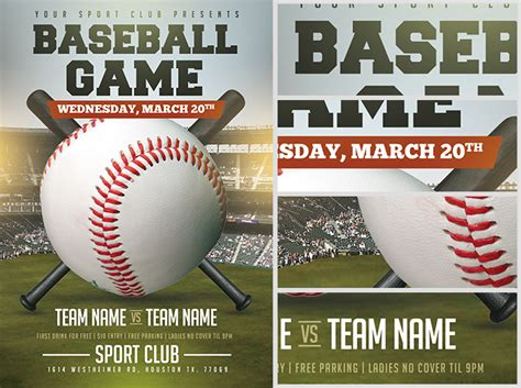 Baseball Flyer Template Baseball Flyer Template 2 Flyerheroes