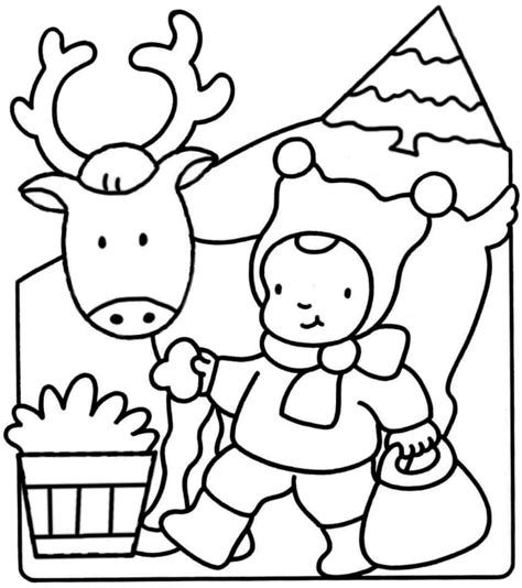 free coloring pages christmas animals christmas animals coloring pages