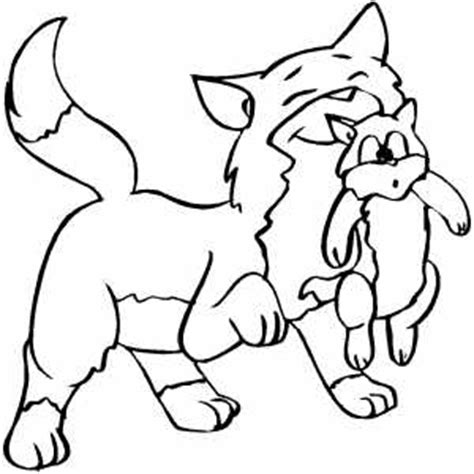 happy cat coloring page happy cat with kitten coloring page