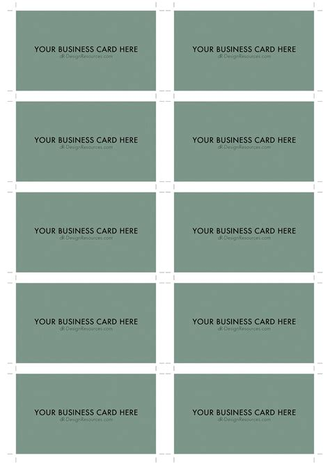 Business Card Template 10 Per Page 10 business card template business card design
