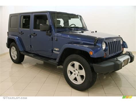 blue jeep wrangler unlimited 2009 water blue pearl jeep wrangler unlimited
