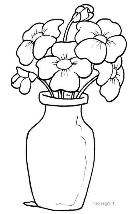 disegno vaso di fiori midisegni it disegni da colorare per bambini
