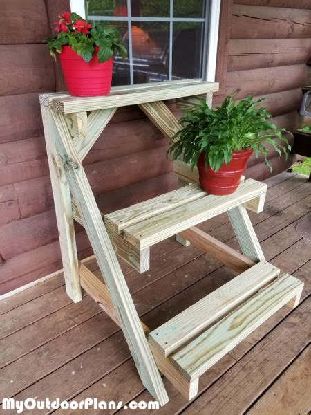 diy  plant stand myoutdoorplans  woodworking