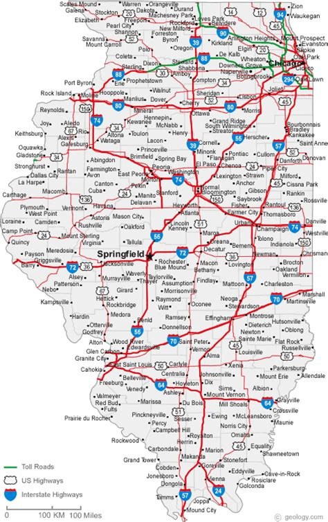 map of il illinois map