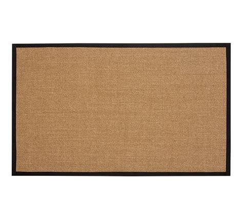 Color Bound Earth Sisal Rug Black Pottery Barn Pottery Barn Sisal Rug