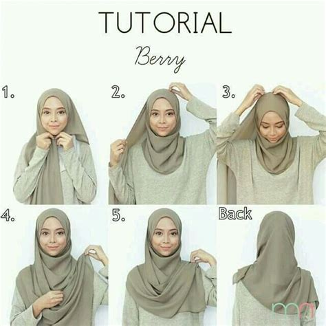 tutorial hijab pasmina gaya casual pin by r f malik on hijab tutorials pinterest