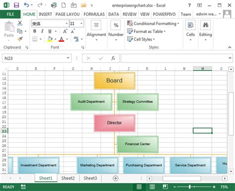 organization flow chart template excel how to create a data linked org chart in excel quora