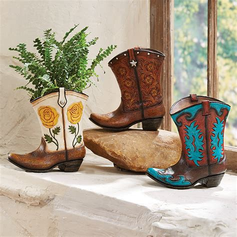 Boot Vases by Western Cowboy Boot Vases