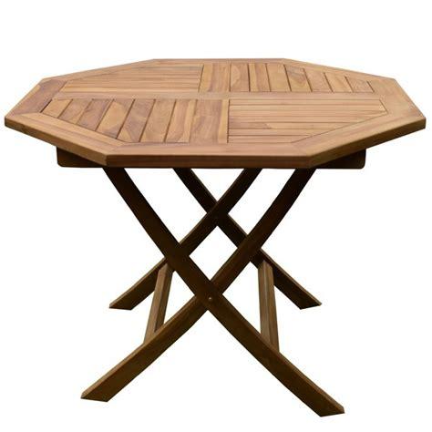 table en teck de jardin table de jardin octogonale en teck 4 pers trigano store