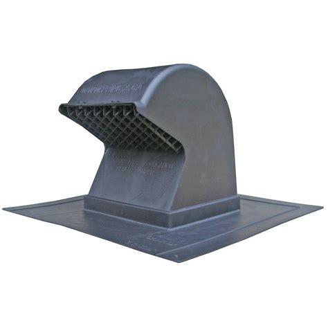 Speedi products heavy duty flush mount black plastic gooseneck roof exhaust cap with removable