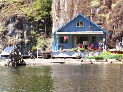 powell lake float cabin tiny house swoon