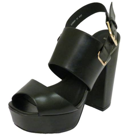 chunky heel sandals womens black platform chunky block heel peep toe sandals