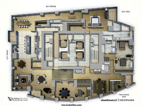 penthouse apartment floor plans executive office socketsite s unofficial penthouse plan challenge box at the top