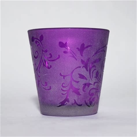 purple votive candle holders by 28 images purple glass votive candle holder set amethyst