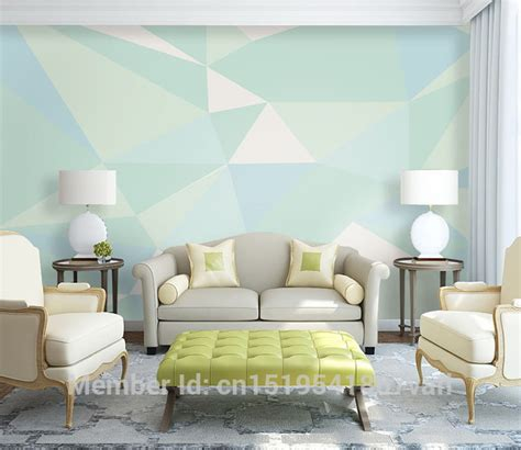 Mint Green Living Room Walls by Custom Geometric Designs Mint Green Color Wall Mural On