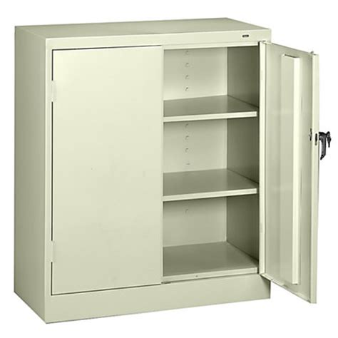 Store Cabinet Tennsco Counter High Storage Cabinet With Reinforced Doors 42 H X 36 W X 18 D Putty By Office