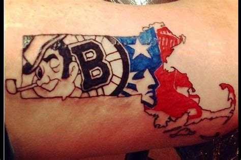 boston strong tattoo massachusetts pro sports teams tattoos