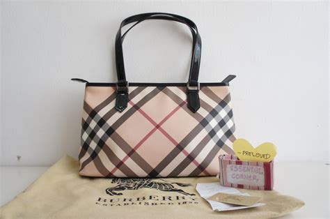 Ready Preloved Longch Leather Tote pre loved burberry check medium tote with zipper
