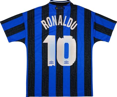 Kaos Afs Inter Milan 1 Cr 1997 98 inter milan home shirt ronaldo 10 fair m classic retro vintage football shirts