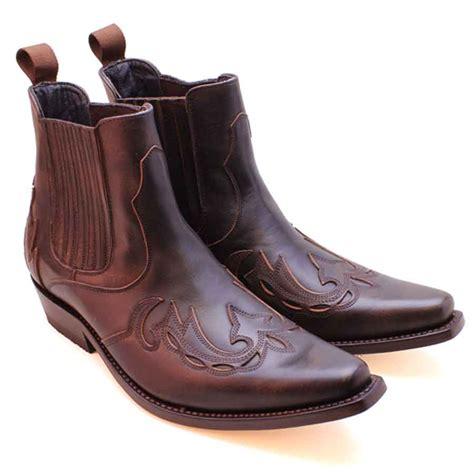 mayura 021 western ankle boot 2 tone brown