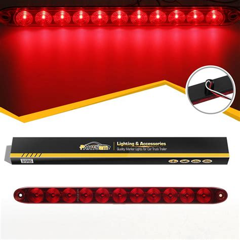 boat trailer tail lights dont work 15 quot 11 led red sealed trailer truck rv stop tail brake