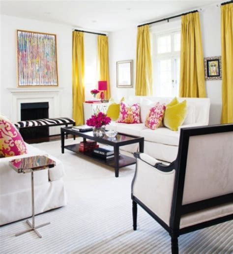 What Color Curtains Go With Yellow Walls How To Add Color To Rooms With White Walls
