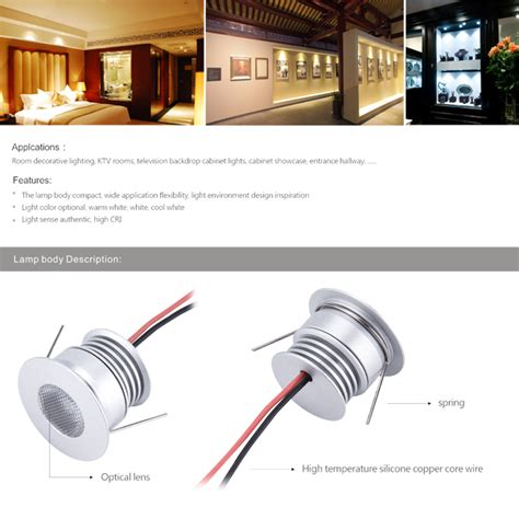 3w Non Dimmable Led Puck Light Fixture Sunrise Cree Cabinet Lighting
