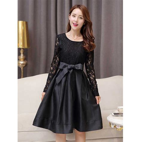 Dress Biru Hitam dress brokat untuk pesta warna hitam 285k