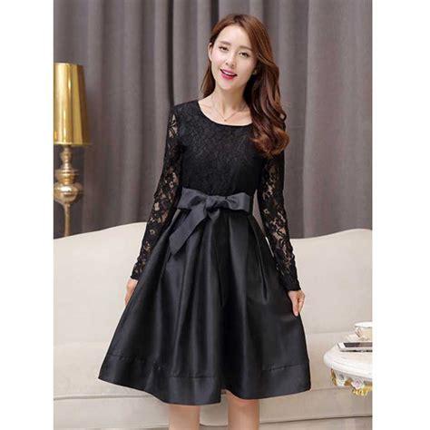 Cdf Sabrina Drs Hitam Dress dress brokat untuk pesta warna hitam 285k