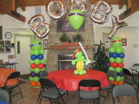 turtle decorations for home ninja turtle birthday party balloon decor of central