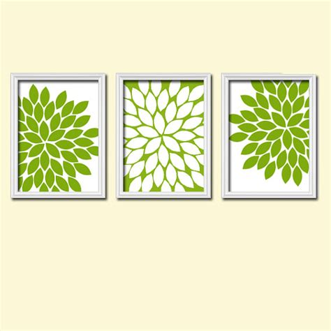Green Wall Decor | kitchen wall art canvas or prints green bathroom artwork