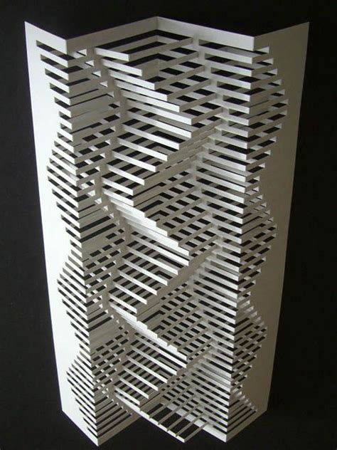 3d Paper Folding - elodole made by cutting and folding paper this