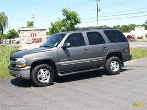 2001 medium charcoal gray metallic chevrolet tahoe ls 4x4