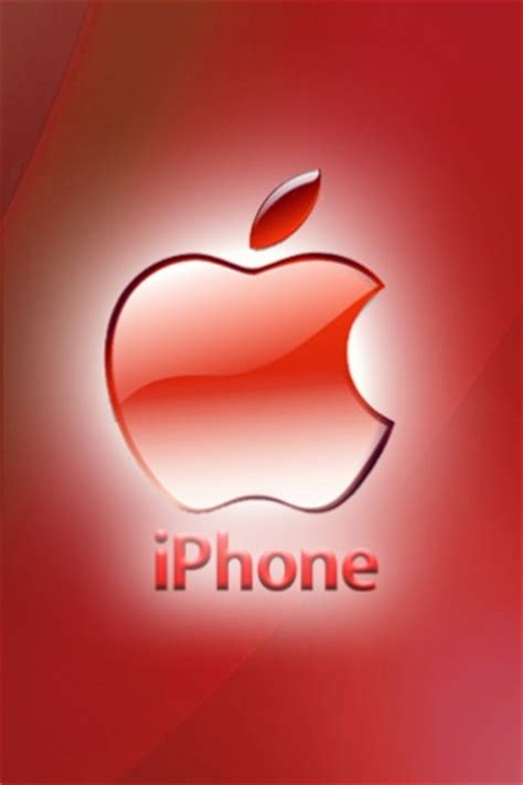 iphone red apple theme  abstract wallpaper