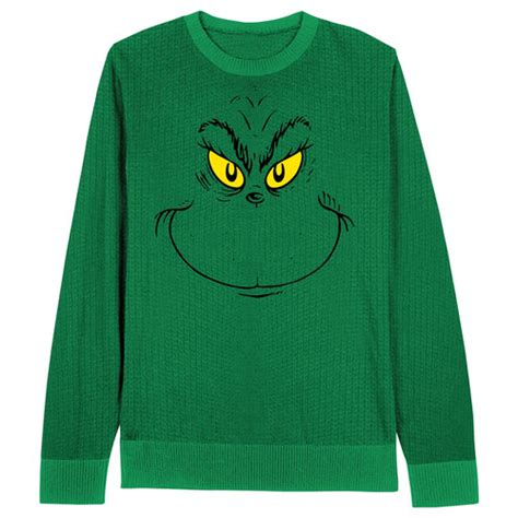 grinch face dr seuss christmas sweater