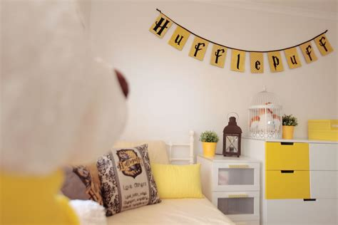 Wallpaper For Bedroom Ideas the ultimate hufflepuff bedroom for a harry potter fan