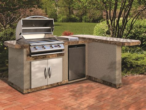 bbq islands cal 95 inch stucco finish bbq island with 4 burner bbq grill refrigerator side burner