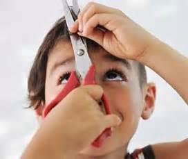 When kids cut their own hair children cutting their own hair