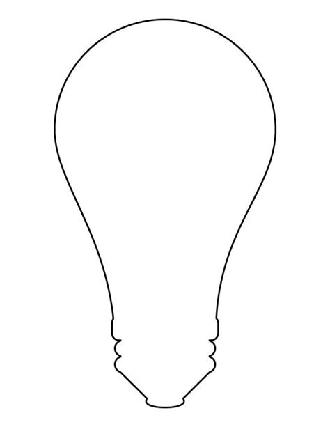 Printable Light Bulb Pattern Use The Pattern For Crafts Creating Stencils Scrapbooking And Light Bulb Template Printable
