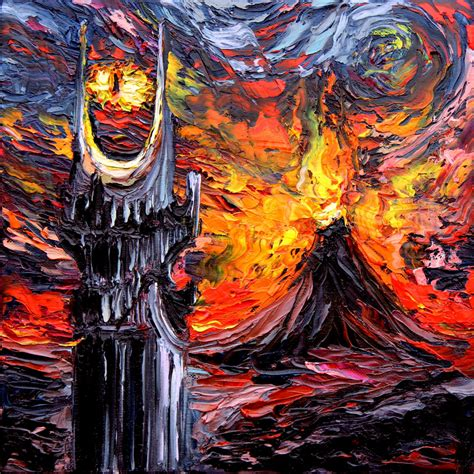 best painting lord of the rings lotr gogh never saw the land of