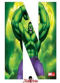 letras decoradas hulk hulk free alphabet alfabeto gratis de hulk banderines