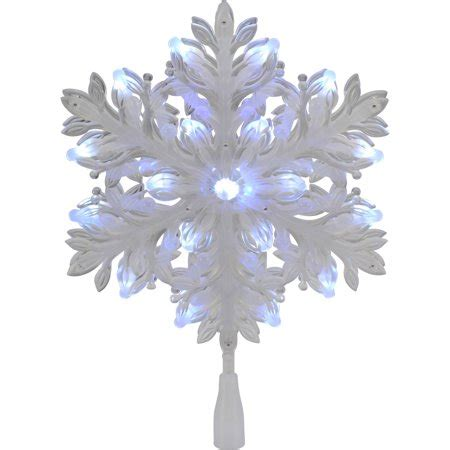 christmas tree toppers at walmart time led snowflake tree topper walmart