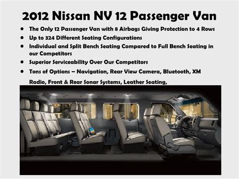 nissan van 12 passenger 2012 nissan nv 12 passenger van