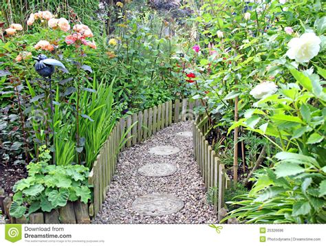Cottage Garden Paths - secret garden path royalty free stock image image 25326696