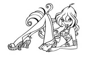 free printable winx club coloring pages kids
